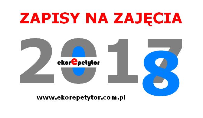 ZAPISY NA ZAJĘCIA 2017/2018